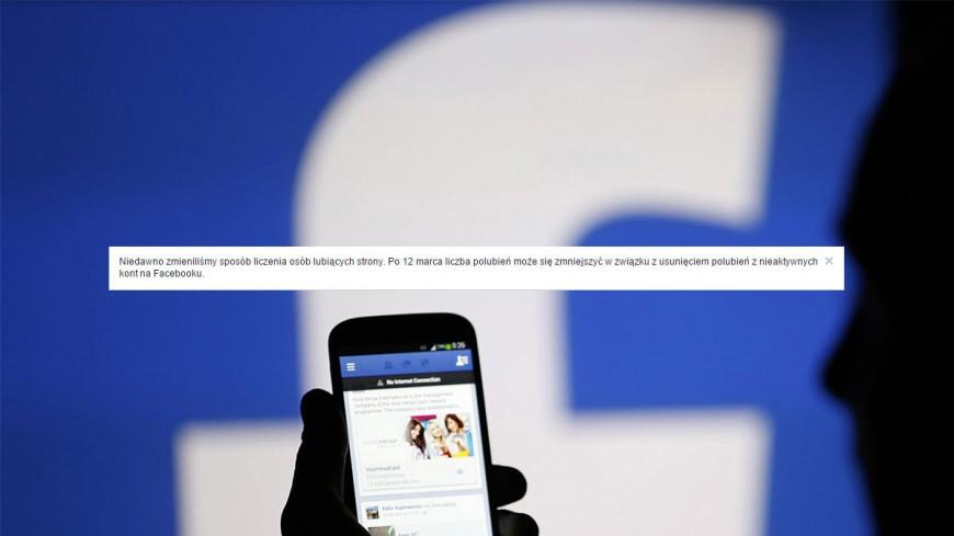 Spadek liczby fanów na Facebooku